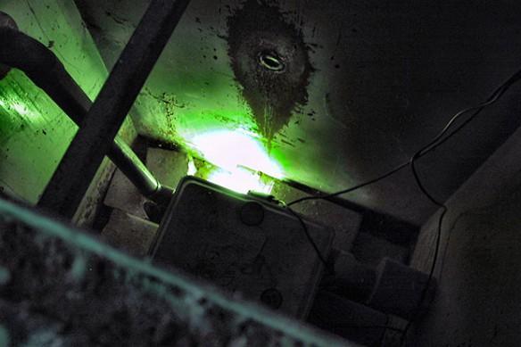 Lichtinstallatie in put